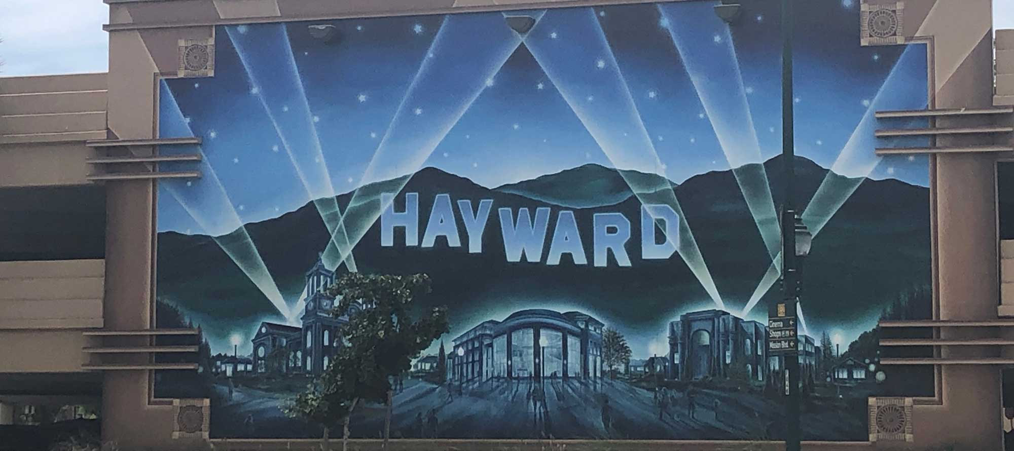 Hayward painting on building